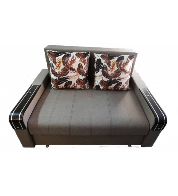 Canapea 2 Locuri cu Brat Lemn